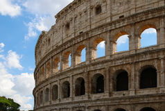 Colosseum, Rome, Italy. Classic view of an unrestored part of the Colosseum Stock Photo