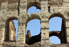 Colosseum in Rome, Italy - close up Royalty Free Stock Image