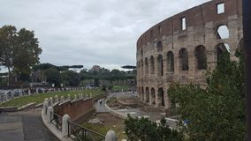 The Colosseum in Rome, Italy. The Colosseum or Coliseum, also known as the Flavian Amphitheatre in the city of Rome, Italy Stock Photos