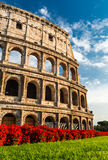 Colosseum, Rome. Italy. Coliseum known as Flavian Amphitheatre an elliptical amphitheatre largest in Roman Empire built in 80AD stock photography