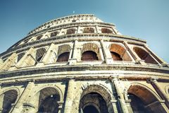 Colosseum of Rome, Italy. External facade. Stock Photo