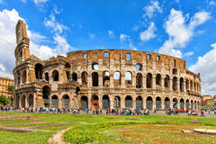 Colosseum in Rome, Italy. The Great Roman Colosseum also known as the Flavian Amphitheatre royalty free stock photography