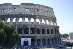Colosseum Rome Italy the hollow between the Esquiline, Palatine and Zelewski hills Stock Photos