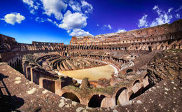 Colosseum in Rome, Italy. Inside of Colosseum in Rome, Italy royalty free stock photo