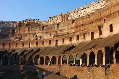Colosseum Rome Italy interior detail Royalty Free Stock Photography