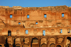 Colosseum Rome Italy interior detail Stock Photography