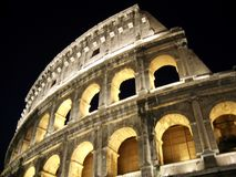 The Colosseum in Rome, Italy. The largest amphitheater ever built royalty free stock image