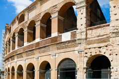Colosseum, Rome, Italy. Modern restoration work on the outside of the Colosseum Stock Photo