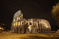 Colosseum in Rome. The Colosseum in Rome, Italy at night royalty free stock image