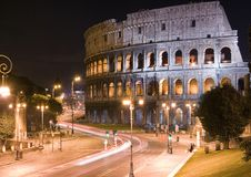 Colosseum of Rome. The Colosseum in Rome, Italy, at night royalty free stock photos