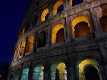 Colosseum in Rome Italy at Night Most. most popular and famous landmark. Colosseum in Rome at Night Most. most popular and famous landmark royalty free stock images