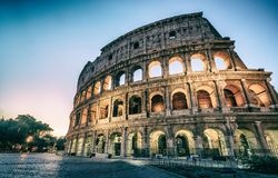 Colosseum in Rome, Italy at Night royalty free stock photos