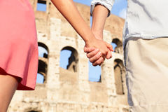 Colosseum, Rome, Italy - romantic couple Royalty Free Stock Image