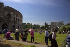 Colosseum in Rome, Italy. Ruins of Colosseum in Rome, Italy Stock Images