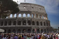 Colosseum in Rome, Italy. Ruins of Colosseum in Rome, Italy Stock Image