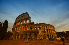 Colosseum in Rome, Italy during sunset Stock Photo