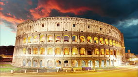 Colosseum, Rome, Italy - Time lapse Royalty Free Stock Photos