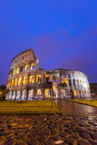 Colosseum in Rome. Italy at twilight Royalty Free Stock Image
