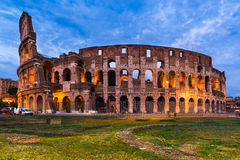 Colosseum, Rome, Italy. Colosseum, Italy. Twilight view of Colosseo in Rome, elliptical largest amphitheatre of Roman Empire ancient civilization royalty free stock photos