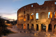Colosseum, Rome, Italy. View of the famouse Colosseum in Rome, Italy at sunset time stock photo