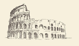 Colosseum in Rome, Italy vintage engraved illustration Royalty Free Stock Image