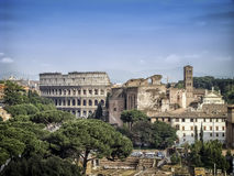 Colosseum in Rome. The largest and the world-famous Colosseum in the world is the Roman Colosseum Stock Images
