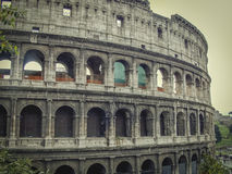 Colosseum in Rome. The largest and the world-famous Colosseum in the world is the Roman Colosseum Stock Photo