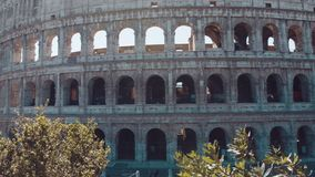 Colosseum in Rome and morning sun, Italy stock footage