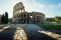 Colosseum in Rome and morning sun Stock Photography