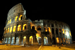 Colosseum in Rome by night. Photos of the Colosseum in Rome, one of the seven wonders of the world royalty free stock image