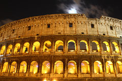 Colosseum in Rome by Night Royalty Free Stock Photography