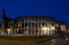 Colosseum in Rome by night. Photos of the Colosseum in Rome, one of the seven wonders of the world Stock Photo