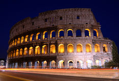 Colosseum in Rome by night. Photos of the Colosseum in Rome, one of the seven wonders of the world Royalty Free Stock Images