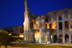 Colosseum in Rome at night Stock Image