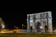 The Colosseum in Rome by Night. Italy Stock Image