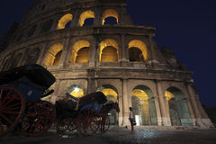 Colosseum, Rome by night Royalty Free Stock Images