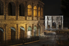 Colosseum, Rome by night Royalty Free Stock Photo
