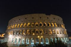 The Colosseum in Rome by Night. Italy Royalty Free Stock Photography