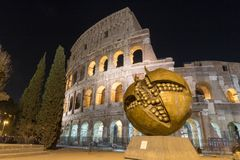 The Colosseum in Rome by Night. Italy Royalty Free Stock Image