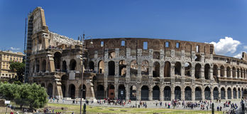 Colosseum Rome Panoramic view Royalty Free Stock Photos
