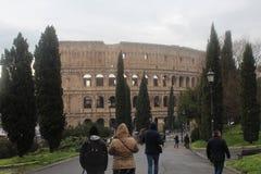 Colosseum Rome parkerar Vieuw Royaltyfri Foto