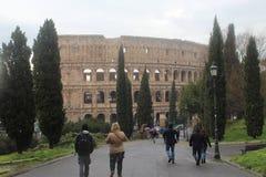 Colosseum Rome parkerar Vieuw Royaltyfri Fotografi