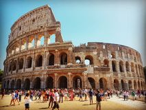 Colosseum. Rome summer, sky, sun, hot, crowd, Italy Stock Photography