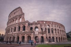 Colosseum Rome. Sunrise view of the Colosseum or Coliseum, a roman amphitheatre in the centre of Rome, Italy Stock Photos