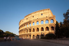Colosseum in Rome at sunset Royalty Free Stock Photos