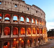 Colosseum. In Rome during sunset royalty free stock image
