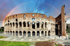 Colosseum in Rome at sunset Stock Image