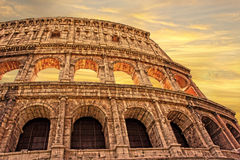 Colosseum in Rome at sunset, Italy Royalty Free Stock Images