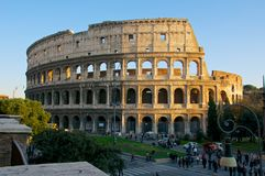COLOSSEUM ROME ITALY COLOSSEO stock photo
