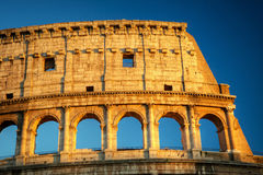 Colosseum in Rome during sunset, Rome Royalty Free Stock Photography